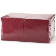 Салфетки бумажные БигПак Professional, 1-х слойные, (бордовые), 24*24 см, 400 л