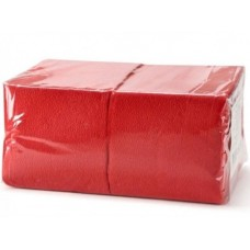 Салфетки бумажные БигПак Professional, 1-х слойные, (красные), 24*24 см, 400 л