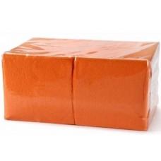 Салфетки бумажные БигПак Professional, 1-х слойные, (оранжевые), 24*24 см, 400 л