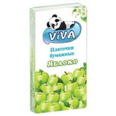 Платочки бумажные Viva (Вива) Яблоко, 2-х слойные, 10 уп из 10 платочков