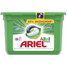 Гель для стирки в растворимых капсулах автомат Ariel (Ариэль) Горный родник, 18 шт*27 г