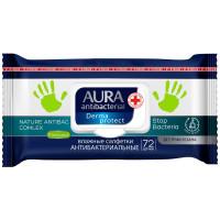 Влажные салфетки антибактериальные Aura (Аура) Ромашка для всей семьи, 72 шт