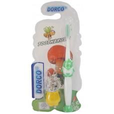 Детская зубная щетка Dorco (Дорко) с игрушкой Заяц