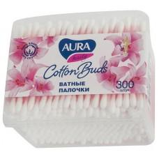 Ватные палочки Aura (Аура) квадрат, 300 шт