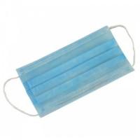 Маски медицинские одноразовые 3-х слойные с носовым фиксатором, цвет голубой, 10 шт/упак