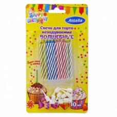 Свечи для торта незадуваемые волшебные Антелла, 10 шт
