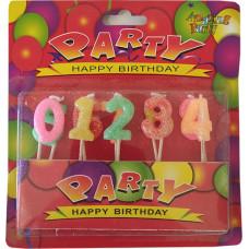 Свечи для торта Цифры 0-9 Антелла, 10 шт