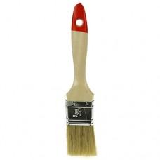 Кисть малярная 37 мм, толщина 12 мм, натуральная щетина, деревянная ручка