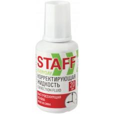 Корректирующая жидкость Staff (Стафф) Everyday, с кисточкой, быстросохнущая, 20 мл