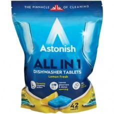 Таблетки для посудомоечных машин Astonish All in 1 Лимонная свежесть, 42 шт