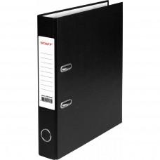 Папка-регистратор STAFF Manager с покрытием из ПВХ, без уголка, черная, 50 мм