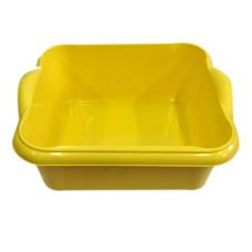Таз пищевой прямоугольный с ручками Чудо, цвет желтый, 10 л