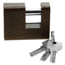 Замок навесной гаражный Рябчик 70 мм, стальной, окрашенный, 3 ключа, в коробке, 70х55х24 мм