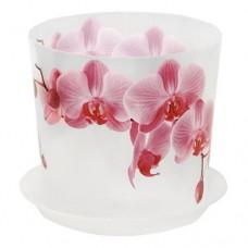 Горшок для орхидеи пластиковый Деко, д=12,5 см, орхидея, 1,2 л