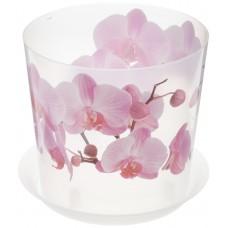 Горшок для цветов и орхидеи пластиковый Деко, д=16 см, h=15,5 см, орхидея, 2,4 л