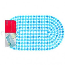 Коврик в ванную овальный Хрусталики, с присосками, цветной, цвета микс, 38х69 см