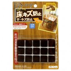 Подпятники для мебели комплект, войлок, в блистере, 1,8х1,8см, 30 шт