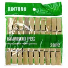 Прищепки бамбуковые, 6 см, 20 шт