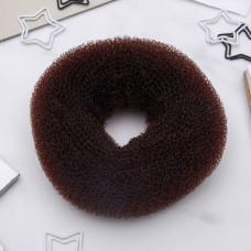Валик для волос большой, цвет коричневый, 4,5×10 см