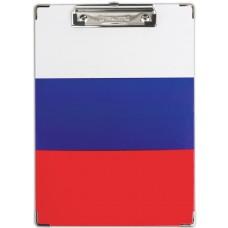 Доска-планшет Brauberg (Брауберг) Flag, с прижимом А4, российский флаг, картон/ламинированная бумага, 226х315 мм