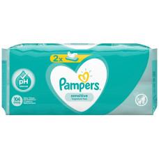 Детские увлажняющие салфетки Pampers (Памперс) Sensetive, 104 шт