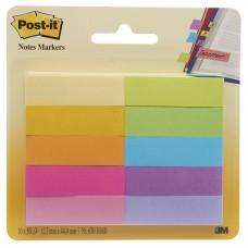 Закладки клейкие POST-IT, бумажные,10 цветов, 12,7 мм, 50 шт