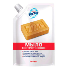 Мыло хозяйственное жидкое Мистер Чистер (дой-пак), 500 мл