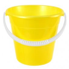 Ведро пластиковое мерное Надежное, цвет желтый, д25 см, h27 см, 8 л