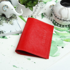 Обложка для паспорта, наплак питон, цвет красный, 9,5х0,5х13,5 см