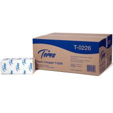 Листовые полотенца Teres (Терес) Стандарт Т-0226 V-сложения, 1-х слойные, 23х21 см, 180 листов