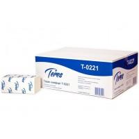Листовые полотенца Teres (Терес) Комфорт Эко Т-0221 V-сложения, 2-х слойные, 22,5х22 см, 180 листов