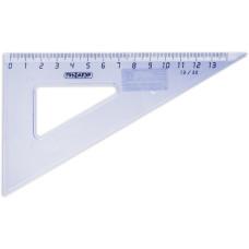 Треугольник пластиковый Пифагор, тонированный, прозрачный, 30х13 см