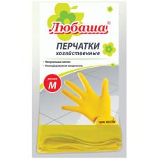 Перчатки латексные Любаша Эконом, х/б напыление, размер M