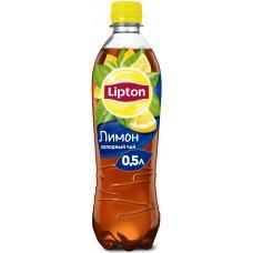 Чай Lipton (Липтон) черный со вкусом лимона, пластиковая бутылка, 0,5 л