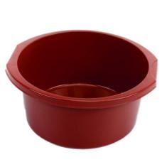 Таз круглый пластмассовый с ручками Эконом, цвет красный, 12 л