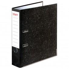 Папка-регистратор STAFF «EVERYDAY» с мраморным покрытием, с уголком, черный корешок, 70 мм