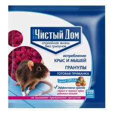 Гранулы от крыс и мышей Чистый Домс запахом ореха, 125 г