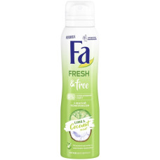 Антиперспирант-спрей женский Fa (Фа) Fresh&Free Лайм и Кокос, 150 мл