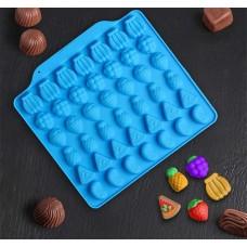 Форма для льда и шоколада Фруктовый бум, цвета микс, 18х16х1, 42 ячейки