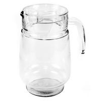 Кувшин стеклянный, прозрачный, пластмассовая крышка, h20 см (д/горла 9,5см; д/основания 9,3 см), 1,6 л