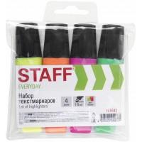 Набор текстовыделителей Staff (Стафф) Everyday, ассорти, скошенный наконечник 1-5 мм, 4 шт