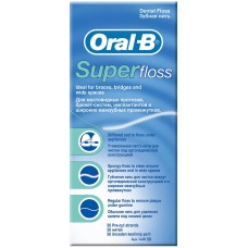 Зубная нить Oral-B (Орал-Би) Super Floss, 50 м