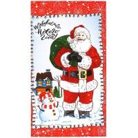 Кухонное полотенце рогожка Дед Мороз, 36х62 см