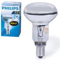 Лампа накаливания Philips (Филипс) Spot, зеркальная, 40 W, R50 E14 30D, колба d = 50 мм, E14, угол 30°