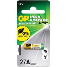 Батарейка алкалиновая для сигнализаций GP High Voltage, 27 A, LR20, 1 шт