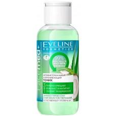 Тоник антибактериальный успокаивающий Eveline (Эвелин) с алое и кокосом 3 в 1, 100 мл