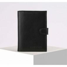 Обложка для автодокументов и паспорта БВК-180, флотер черный, 10х1х14 см