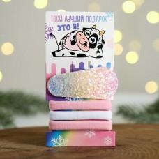 Заколка + набор резинок Твой лучший подарок - это я!, 5,8 х 11,4 см
