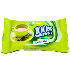 Влажные салфетки 100% Чистоты с ароматом Зеленого чая, 15 шт