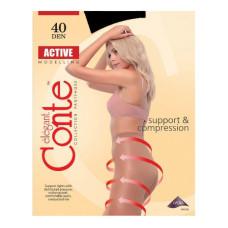 Колготки Conte (Конте) Active, Nero, 40 den, 5XL размер